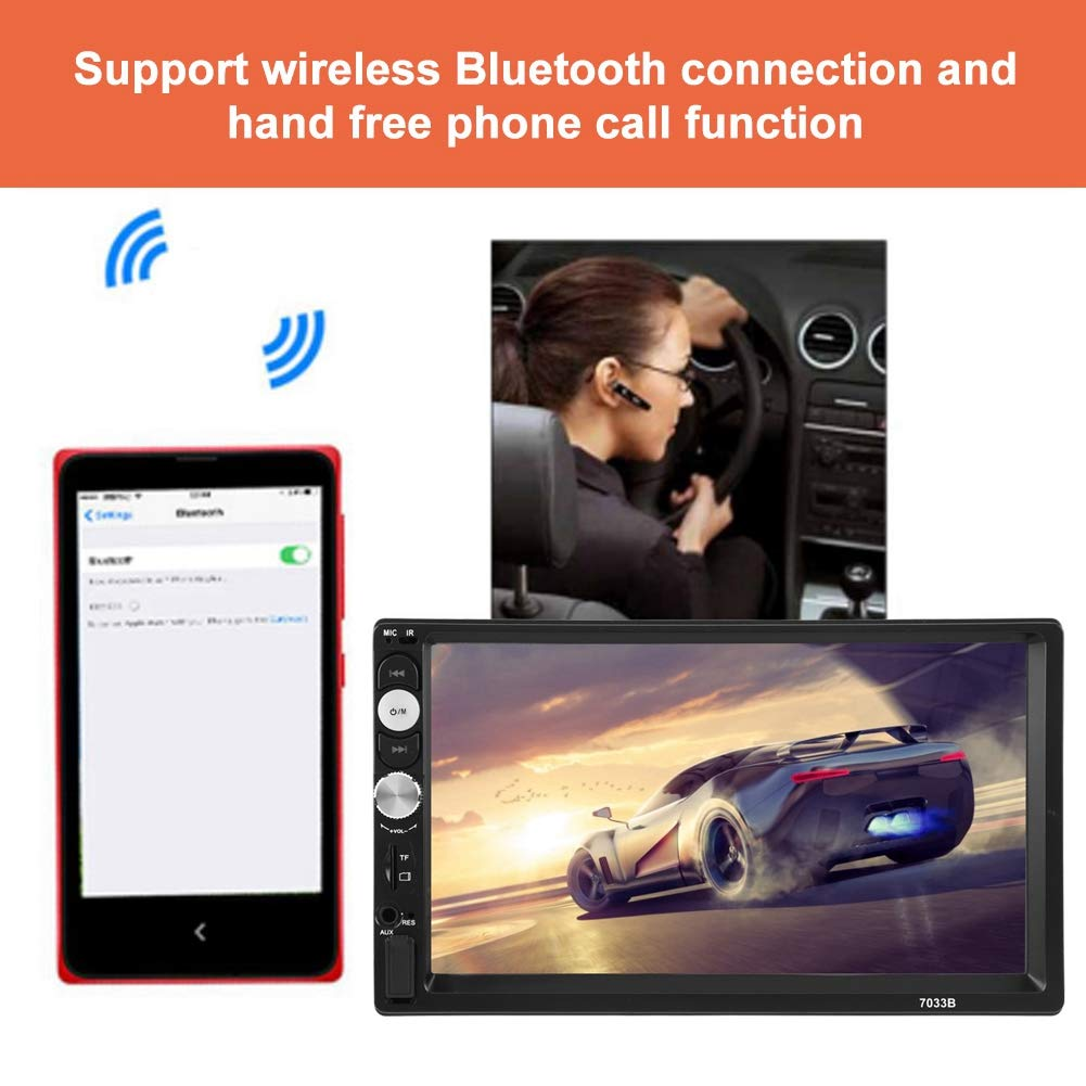 EBTOOLS 7 inch Universal HD Bluetooth Doppel Din Auto Stereo MP5 Player Autoradio Audio Video Player Pupports FM USB AUX MP5 Multimedia mit Fernbedienung