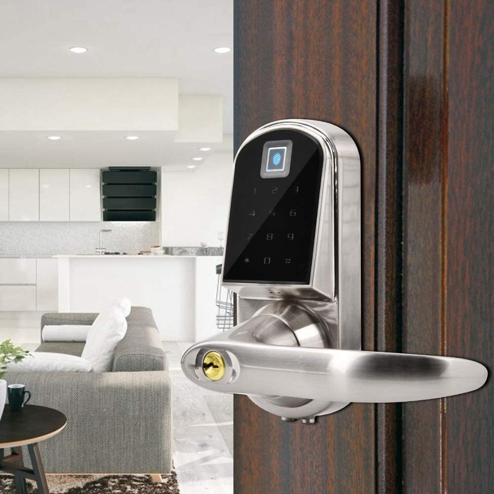 Smart anti-theft lock fingerprint and touchscreen Anti-theft lock without key Anti-theft lock
