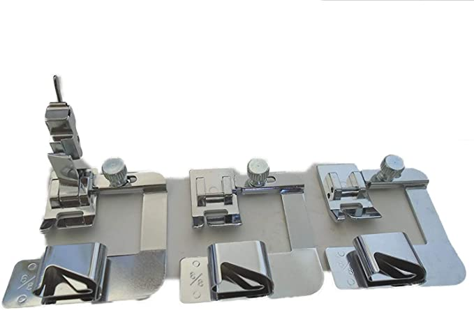8300 5 FIXED HIGH SHANK SCROLL HEMMER FEET FOOT SET FIT for Juki DDL-5550,DDL
