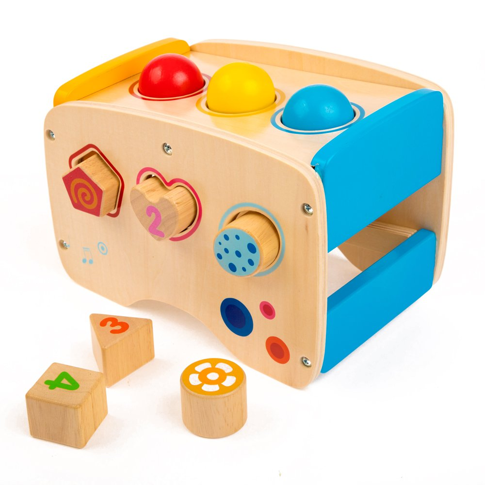 rolimate Wooden Learning Hammering & Pounding Toys + 8 Notes Xylophone + Shape Color Recognition, Best Birthday Gift Toy for Age 1 2 3 Years Old and Up Kid Children Baby Toddler Boy Girl by rolimate (Image #3)