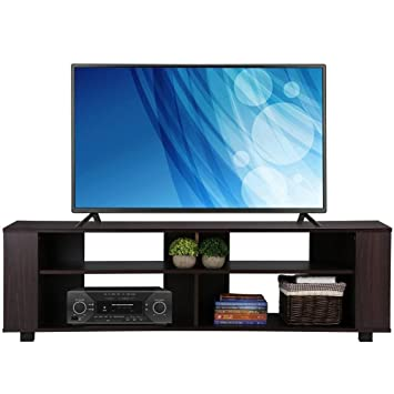 Go2buy 58u0026quot; Wood TV Stand Media Console Cabinet Home Entertainment  Center Table For Flat Screen