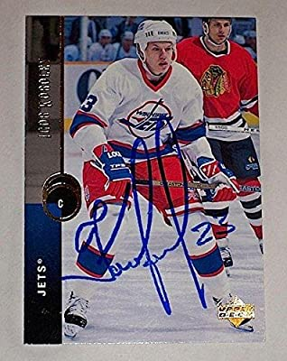 IGOR KOROLEV Signed WINNIPEG JETS Card LOKOMOTIV KHL (94-95 UD #344) - Autographed Hockey Cards