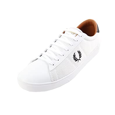 08f6395d578632 Fred Perry Spencer Mesh Leather White 47  Amazon.co.uk  Shoes   Bags