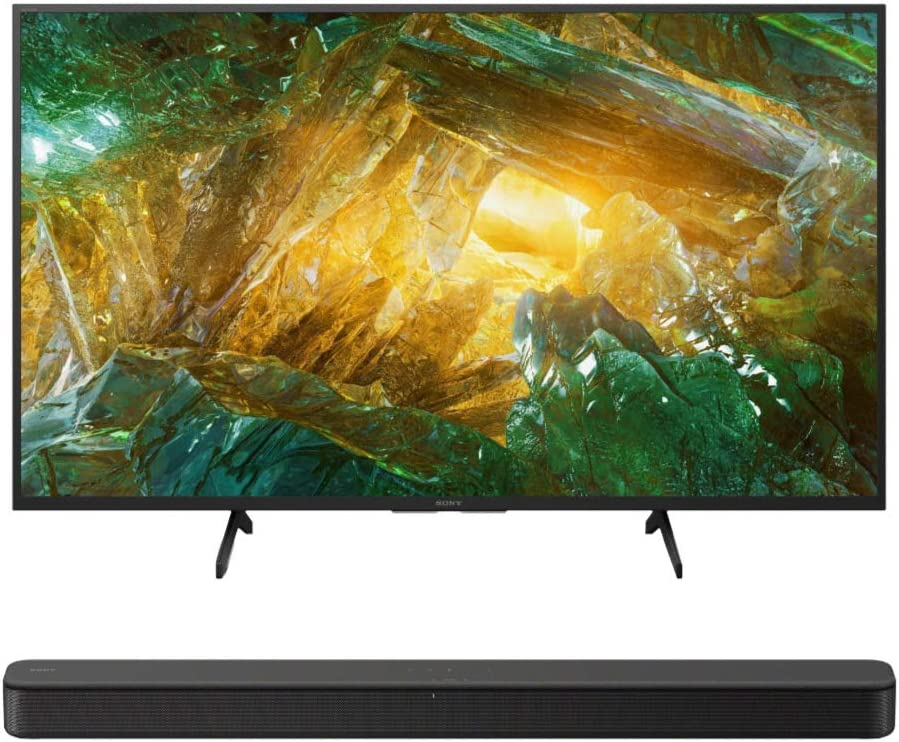 Sony XBR-43X800H 43-Inch LED 4K Ultra HD HDR Android Smart TV HT-S100F...