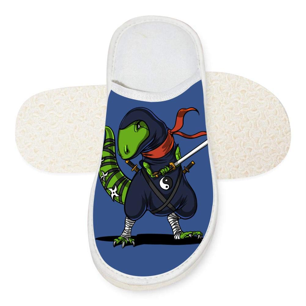 Amazon.com: Slippers Ninja Dinosaur 3D Soft Winter Slippers ...