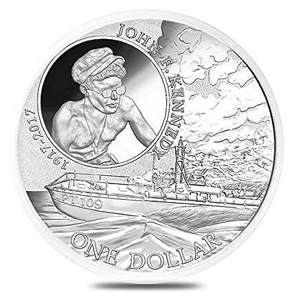 Kennedy JFK Solomon Islands $1 Coin .999 Fine w//Assay 2017 1 oz Silver John F
