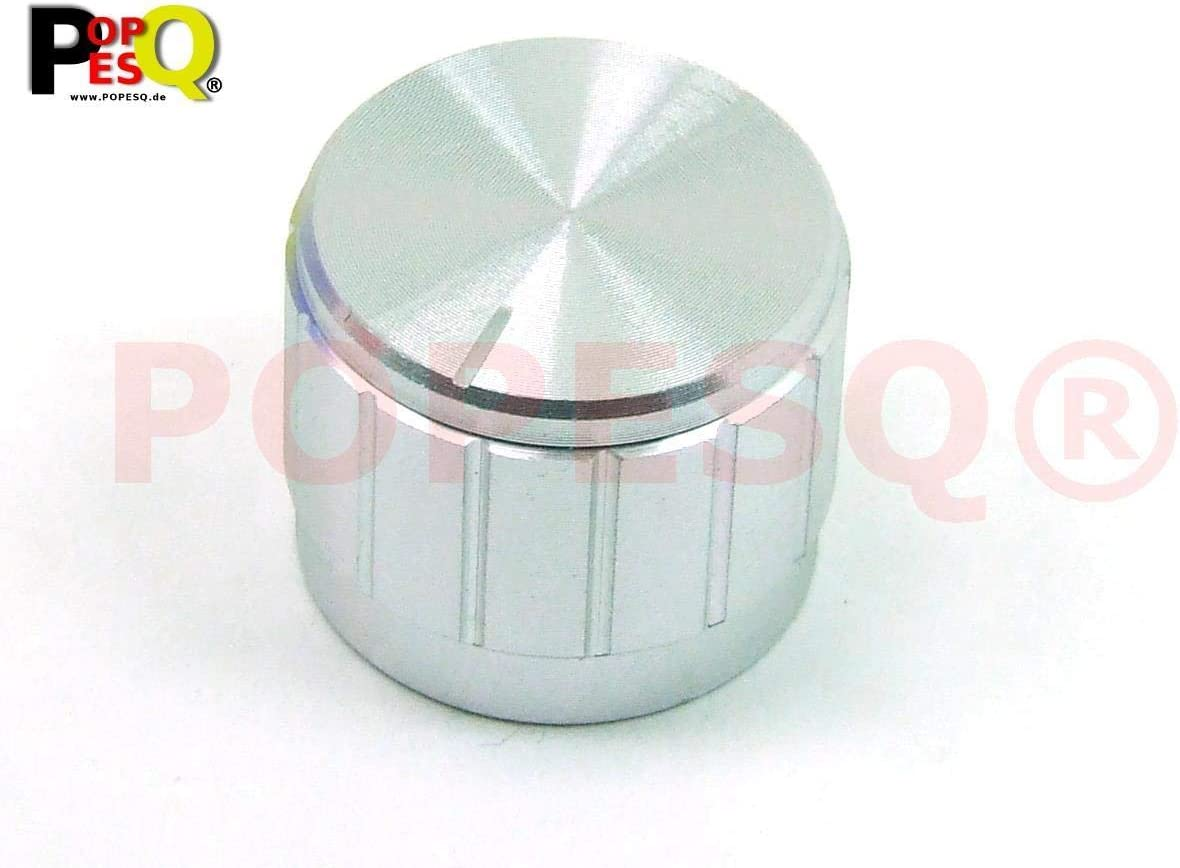 1 PCS POPESQ/® 1 pz x Potentiometer knob 22mm x 17mm KAZ1 Aluminium Aluminium #A1261 x Manopola potenziometro 22mm x 17mm KAZ1 Alluminio Alluminio