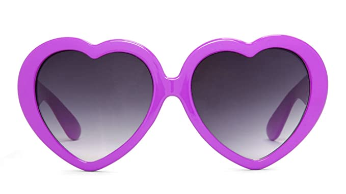 91c8cc2e5d94e Image Unavailable. Image not available for. Colour  Gravity Shades Heart  Shaped Lolita Sunglasses ...