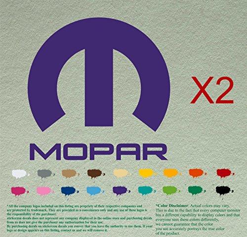 - Two Mopar Dodge Plymouth Chrysler Decal Sticker Logo Name Plate Emblem Pair (9