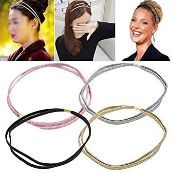 Amazon.com   4Pcs Handmade Elastic Headbands for Thick and Natural Hair    Beauty 6389999ca5d
