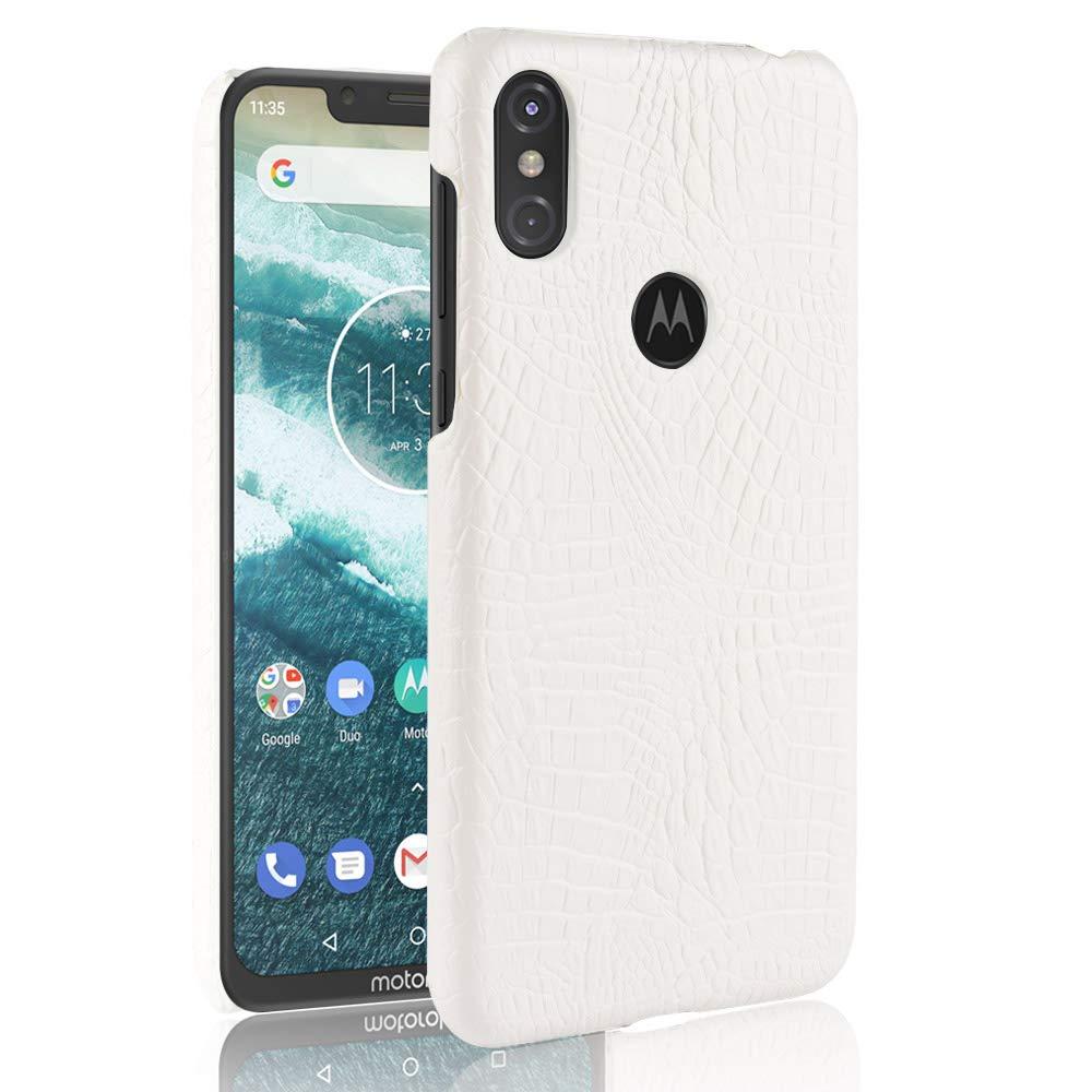 SPAK Motorola One (P30 Play) Funda, Patrón del Cocodrilo Cáscara ...