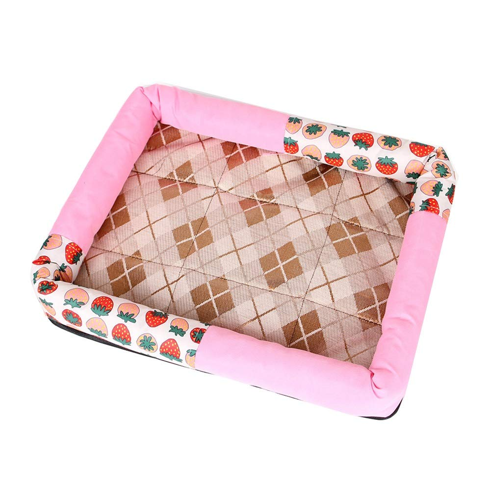 A XL(67X57CM) A XL(67X57CM) ZWYGXL 2 Packs Kennel Summer Small Medium Dog Not Easy to Dirty Pet Bed Supplies Cat Supplies Cool and Comfortable (color   A, Size   XL(67X57CM))