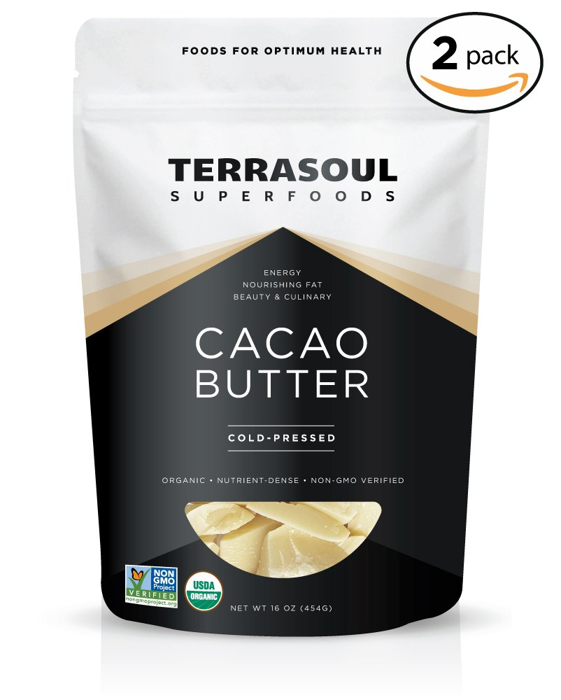 Terrasoul Superfoods Organic Cacao Butter, 2 Pounds (Raw, Keto, Vegan Friendly)
