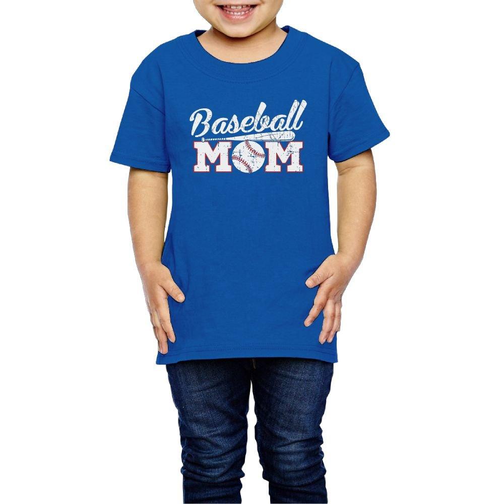 Girls Baseball Mom T Shirts Photoshoots Or Hiking Camping Travel Vacation T-Shirt Or Daily Wear RoyalBlue 4 Toddler