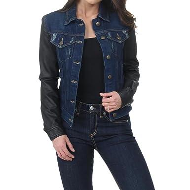 571a8c7daf1a1 Laundry by Shelli Segal Womens Distressed Denim Denim Jacket Blue XS