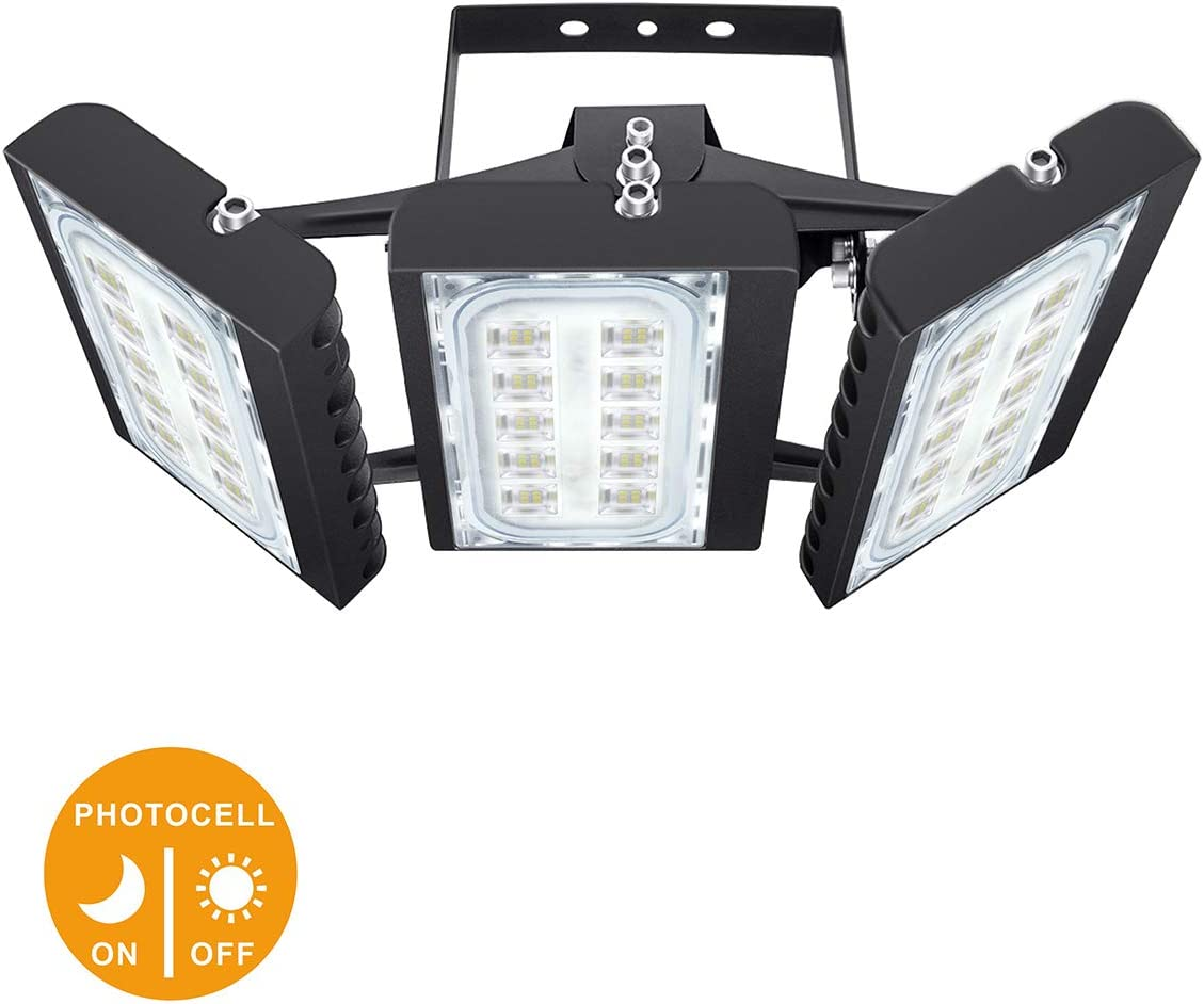 LED Flood Light, STASUN 150W 13500lm Dusk to Dawn Outdoor Lighting with Wide Lighting Area (Photocell Included), 6000K, OSRAM LED Chips, IP66 Waterproof Security Lights for Yard, Street, Parking Lot