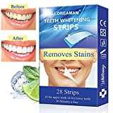 Teeth Whitening Strips,Teeth Bleaching,Teeth Whitening Kit,Teeth Whitening Zero Peroxide Strips Advanced Double Elastic Gel Strips Kit 28 Pcs 14 Treatments for Teeth Care,Mint Flavo