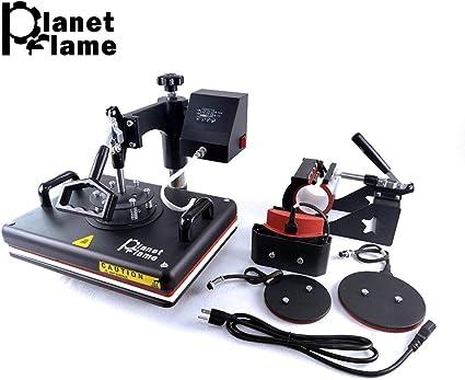 "15/""x15/"" 5IN1 Combo T-Shirt Heat Press Transfer Hat Multifunctional DIY Printer"