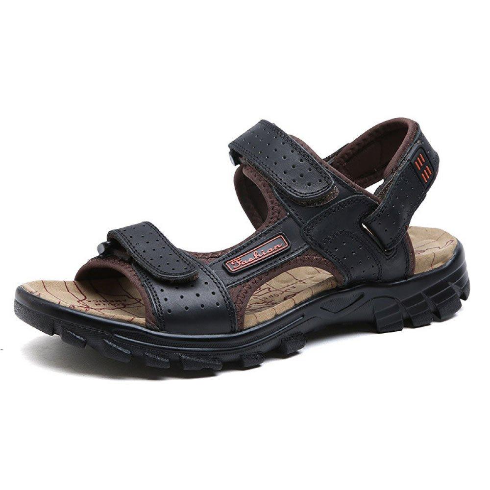 Sandalias De Moda De Verano Sandalias De Playa Antideslizantes De Velcro para Hombres 38 EU Black