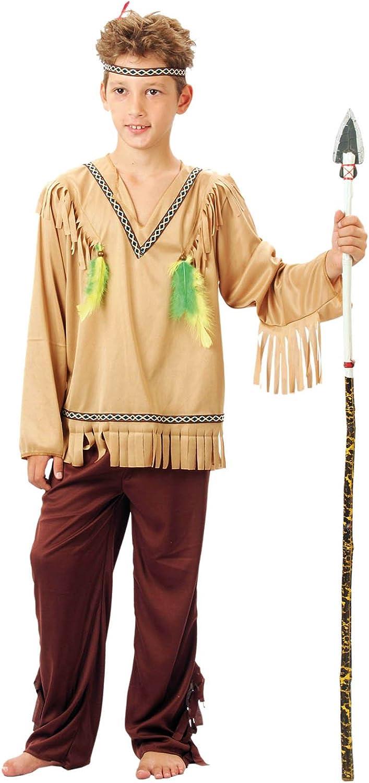 EL CARNAVAL Disfraz Indio Plumas Talla de 8 a 10 años: Amazon.es ...