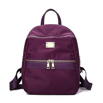 d60998db70b77 OURBAG Damen Groß Modisch Rucksack Persönlichkeit Umhängetasche Schultasche  mit Gute Qualität Nylon Lila