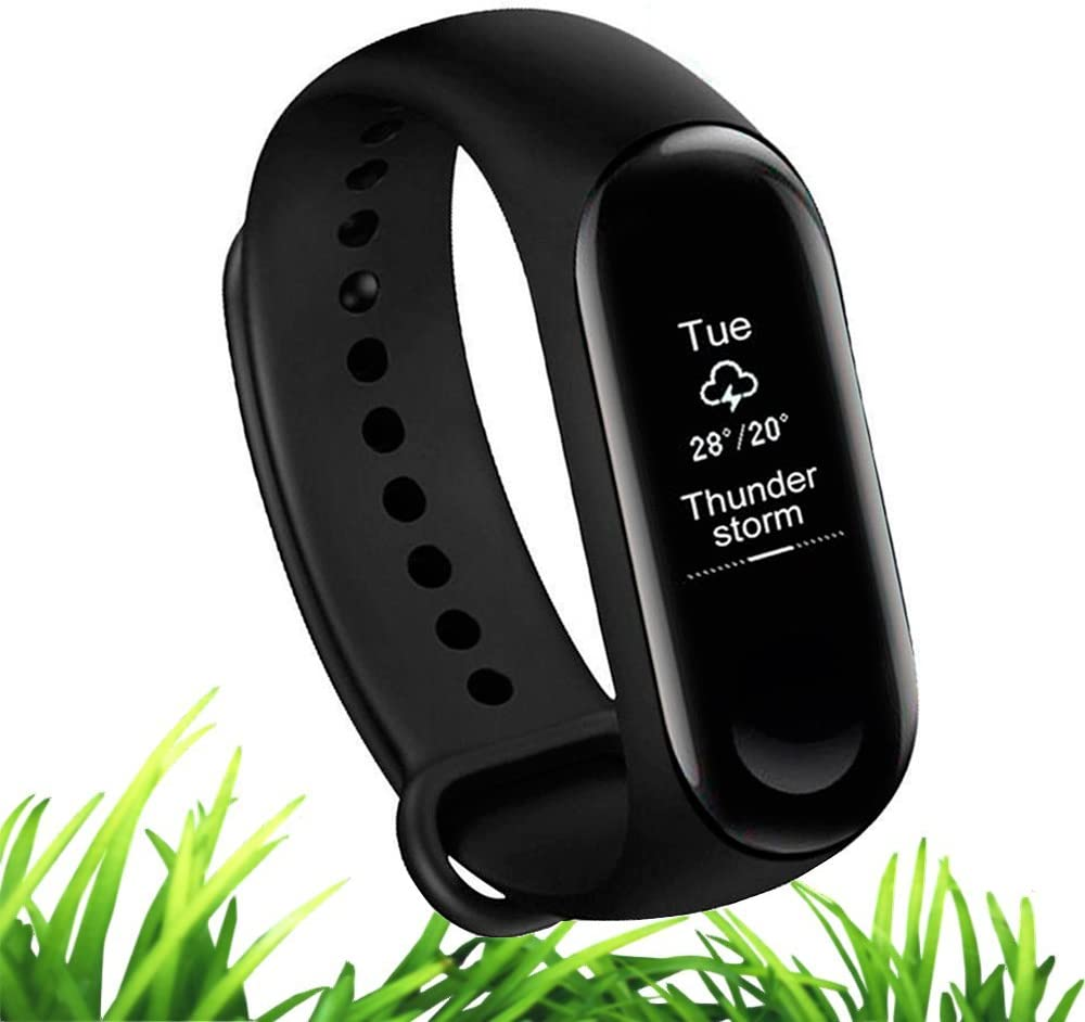 Xiaomi Mi Band 3 Global English Fitness Tracker Fashion Touch Screen Smart Watch Sport Wristband Bracelet Heart Rate Monitor Activity Workout 50M Waterproof Pedometer Weather Forecast Reminder Sleep
