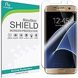 Galaxy S7 Edge Screen Protector (Edge-to-Edge) [Military-Grade] RinoGear Premium HD Invisible Clear Shield Anti-Bubble