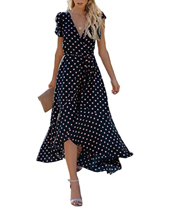Womens Off Shoulder Wrap Boho Maxi Long Party Evening Sleeveless Summer Dress Making Things Convenient For The People Dresses