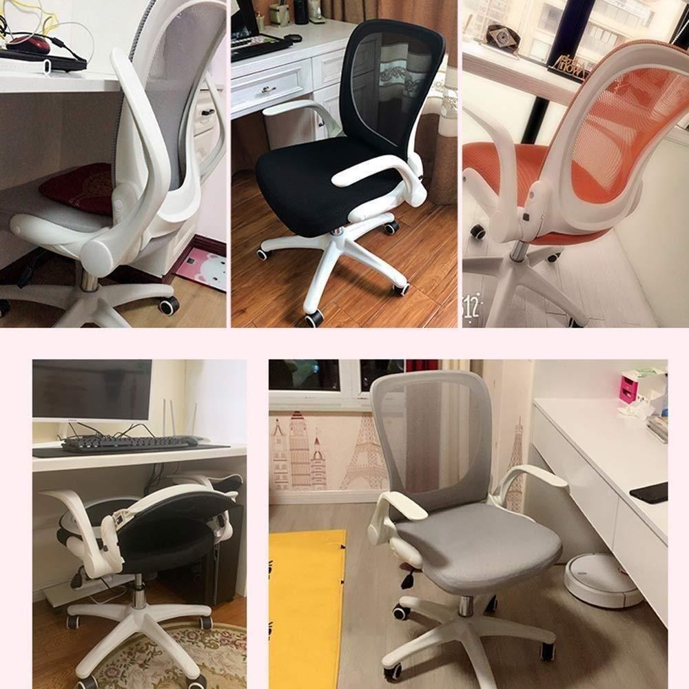 Xiuyun kontorsstol spelstol nät svängbar stol, student skrivstol kontor ryggstöd 90° vikbar datorstol kontor personal konferensstol arbetsrum skrivbordsstolar (färg: F) E