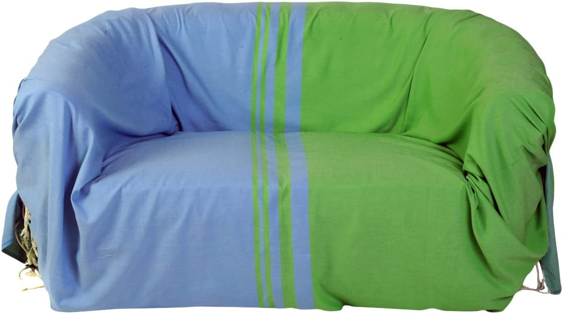Fouta Fut/ée Jet/é de canap/é en Coton fouta 300x200 cm Multicolore