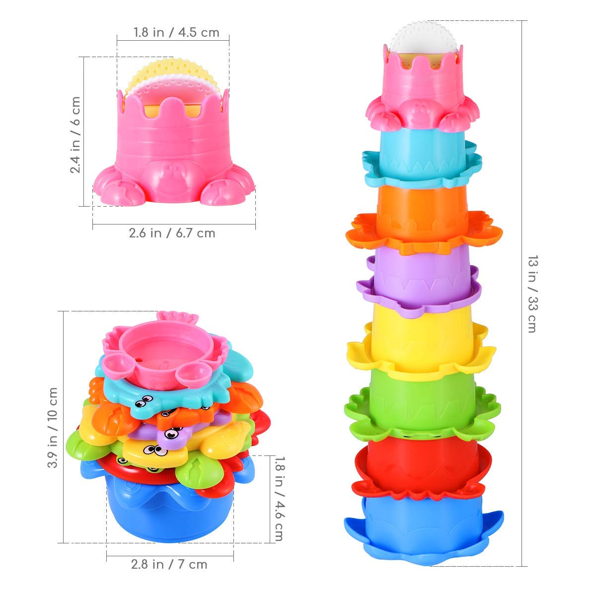 Goodluck001 Bath Toys for Toddlers 12PCS Bath Squirter ...