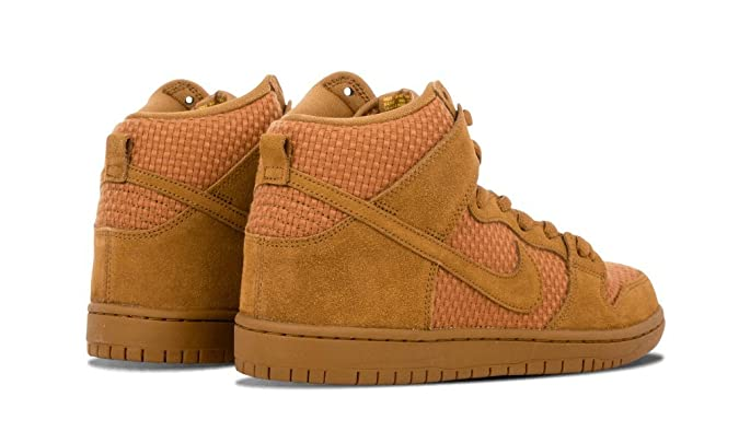 reputable site 65bf3 a93e1 Amazon.com   Nike Mens Dunk High Premium SB Ale Brown Tour Yellow Fabric  Size 12   Basketball