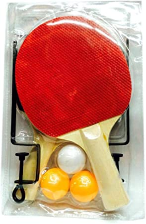 QKDSA Juego de 2 Jugadores de Tenis de Mesa (2 murciélagos y 3 ...