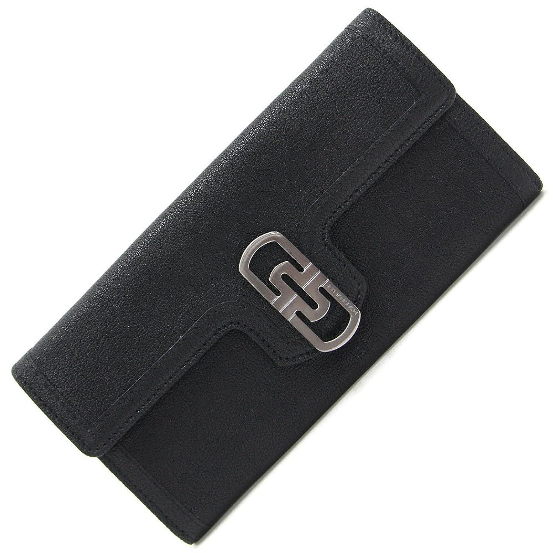 BVLGARI(ブルガリ) 二つ折り長財布 パレンテシ ブラック レザー 中古 黒 革 ロングウォレット BVLGARI [並行輸入品] B07987PJSK