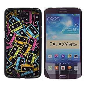 Stuss Case / Funda Carcasa protectora - Cassette Tapes Neon Colorful 90S Music Art - Samsung Galaxy Mega 6.3 I9200 SGH-i527