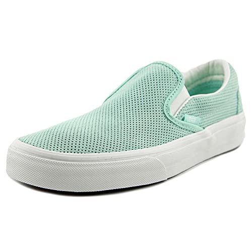 114cb3a533 Vans Classic Slip-On Perforated Suede Blue Light   Blanc De Ankle-High  Fashion
