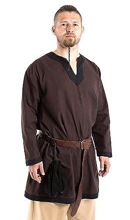 hot sale online 9b775 24683 Hemd Tunika braun aus dicker Baumwolle Mittelalterliche ...