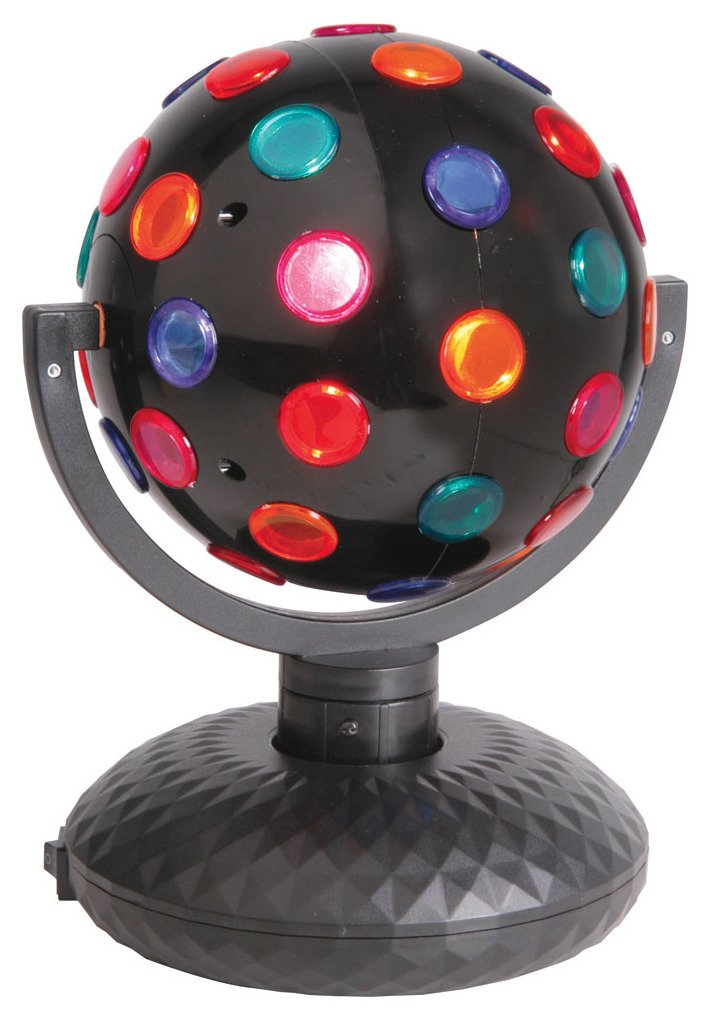 Qtx Uk Version Rotating Disco Ball Bidirectional 5Colours Free Standing