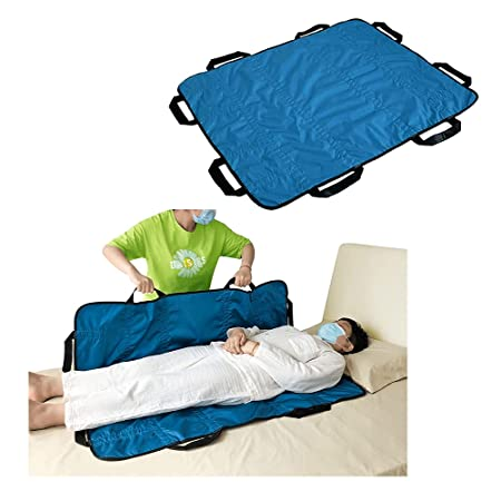 """Positioning Pad Draw Sheet Patient Transfer Board Lift Sheet Slide  Protective Hospital Bed Mat with Handles for Incontinence, Bariatric,  Elderly - Reusable & Washable (48"""" X 40"""") : Amazon.in: Health & Personal"""