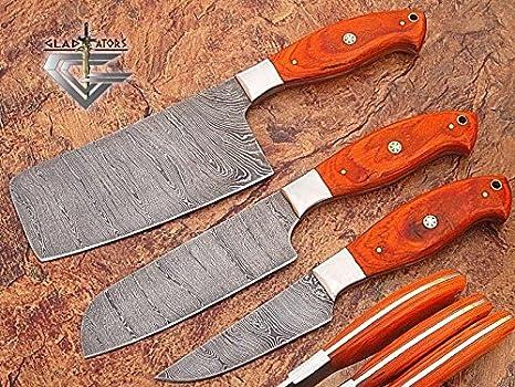GladiatorsGuild - Juego de 3 cuchillos de cocina hechos a ...