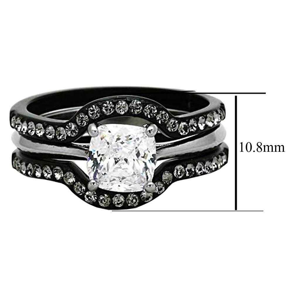 Amazon.com: FlameReflection - Juego de anillos de boda de ...