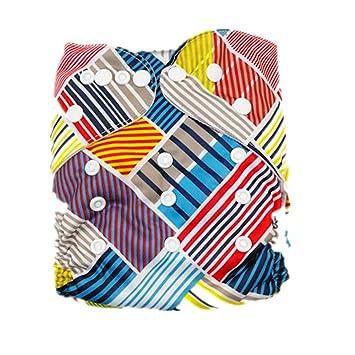 Wiederverwendbar waschbar Baumwolle Baby-Stoffwindeln Windel Abdeckung