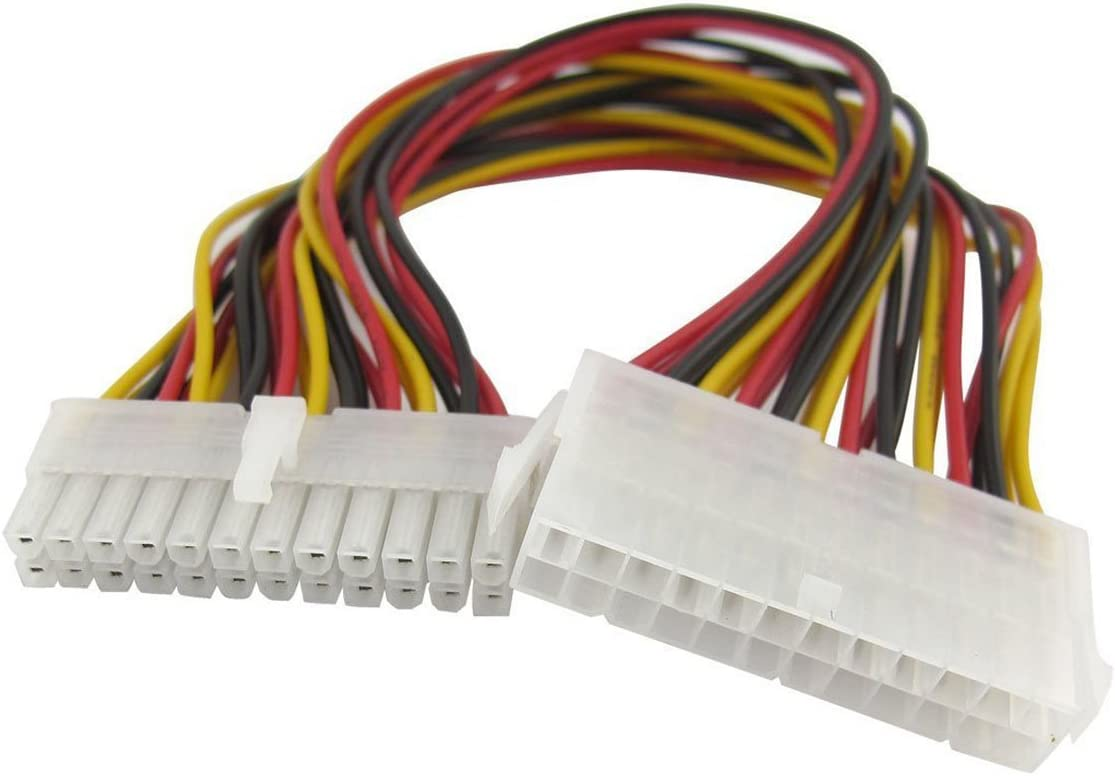 24 Pin Male to 24 Pin Female PC PSU ATX Computer Power Extension Cable Cord