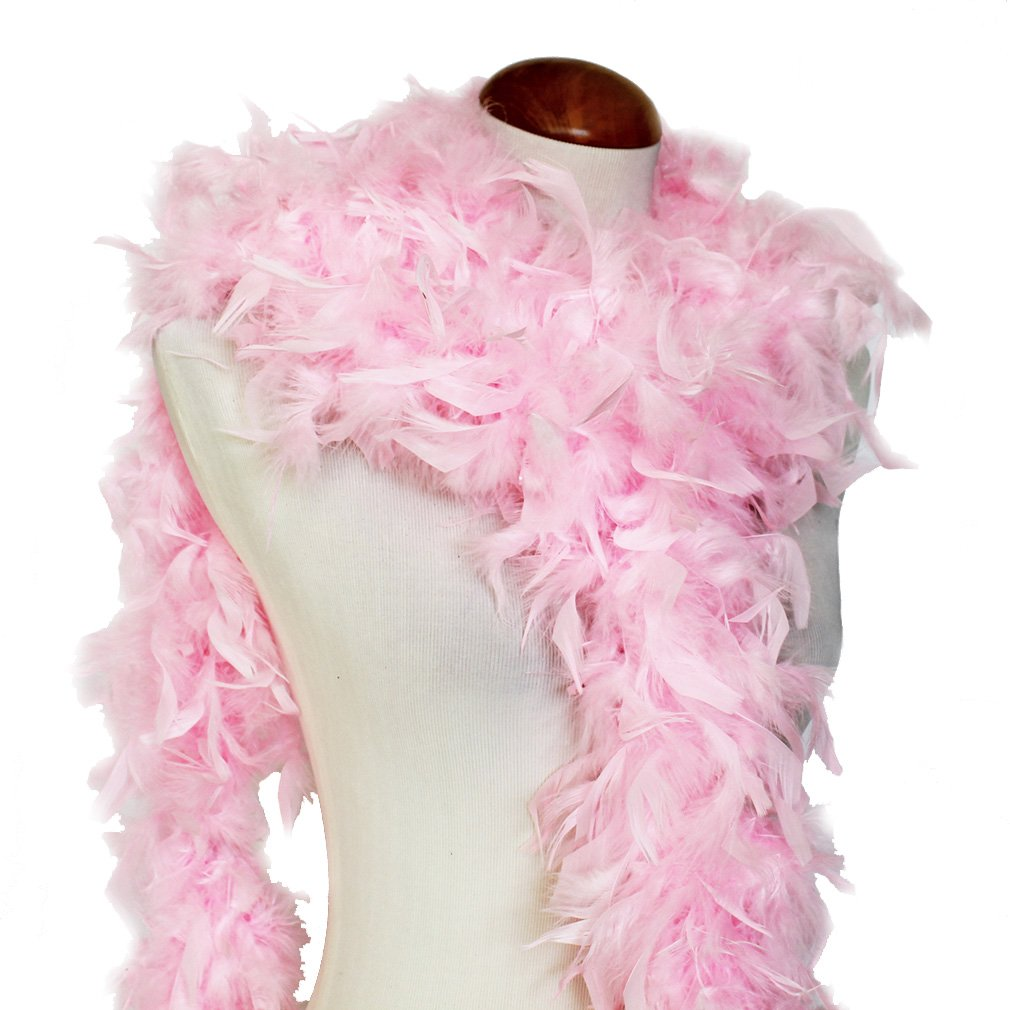 Cynthia's Feathers 65g Chandelle Feather Boas Over 80 Colors & Patterns to Pick Up (Baby Pink) YongJia