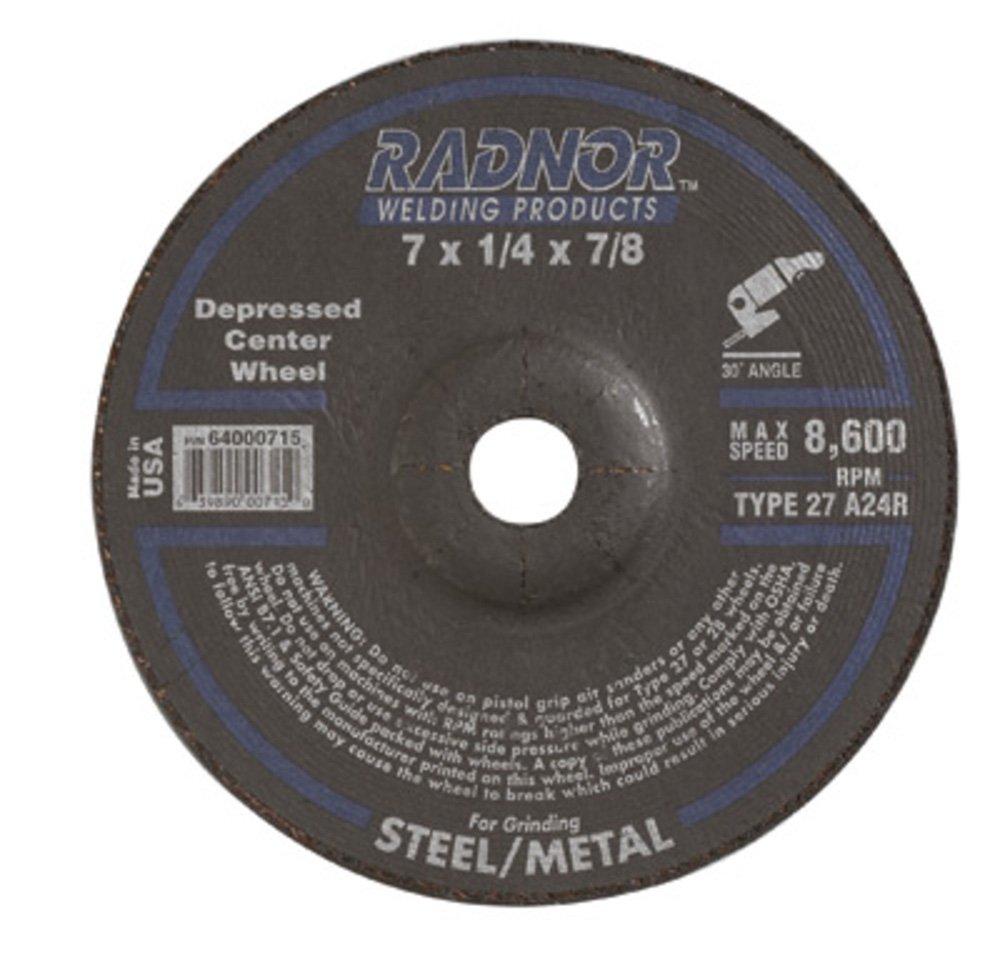 Radnor 4 X 1//8 X 3//8 A24R Aluminum Oxide Typ