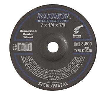 Radnor 9 X 1//4 X 5//8-11 A24R Aluminum Oxid