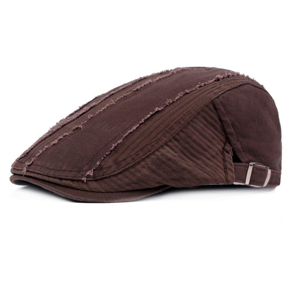 74e9fef3759 ZLSLZ Mens Ripped Patches Cotton Newsboy Ivy Irish Cabbie Golf Hat Cap for  Men (1Black) at Amazon Men s Clothing store