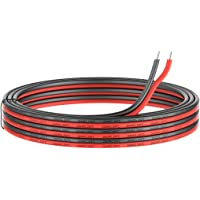 20 Gauge Electrical Wire 2 Conductor Parallel Silicone Wire 50ft [Black 25ft Red 25ft] 20 awg 200 Deg C 600V Flexible…