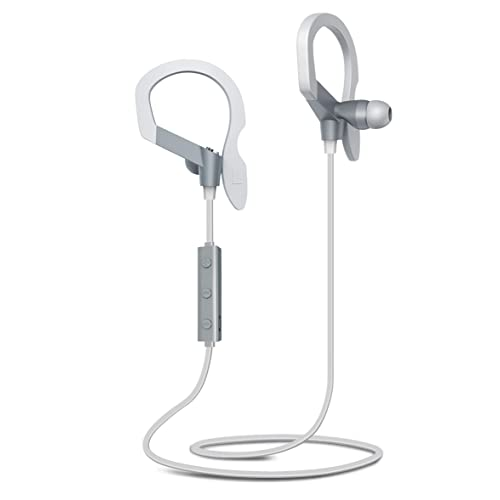 Bluetooth Headphones, Budget&Good Wireless Earphones In-Ear Earbuds Stereo with Mic Bass Sweatproof Noise Cancelling Bluetooth Sports Earpieces Bluetooth V4.1 for iPhone Android Smartphones (Grey)