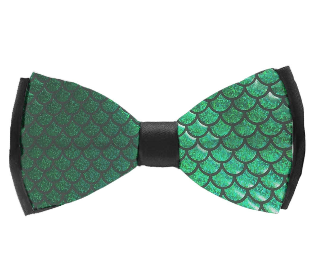 INWANZI Colorful Fish Scale Men Pre-Tied Bowtie with Adjustable Length Classic Party Bow Tie